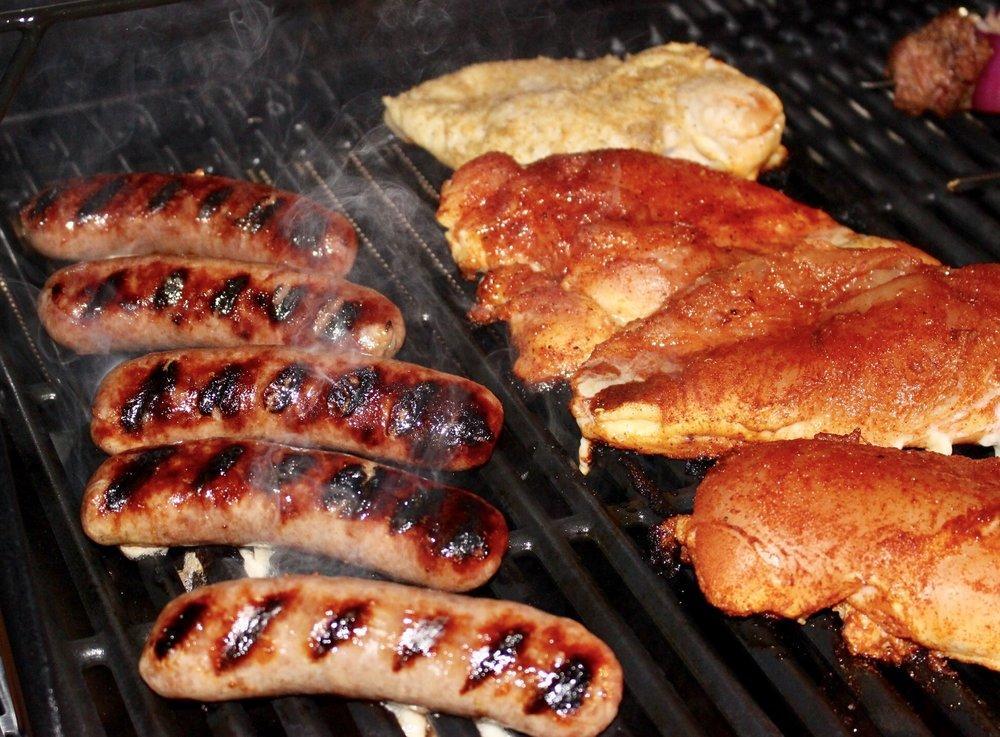 Smokey brats and chicken