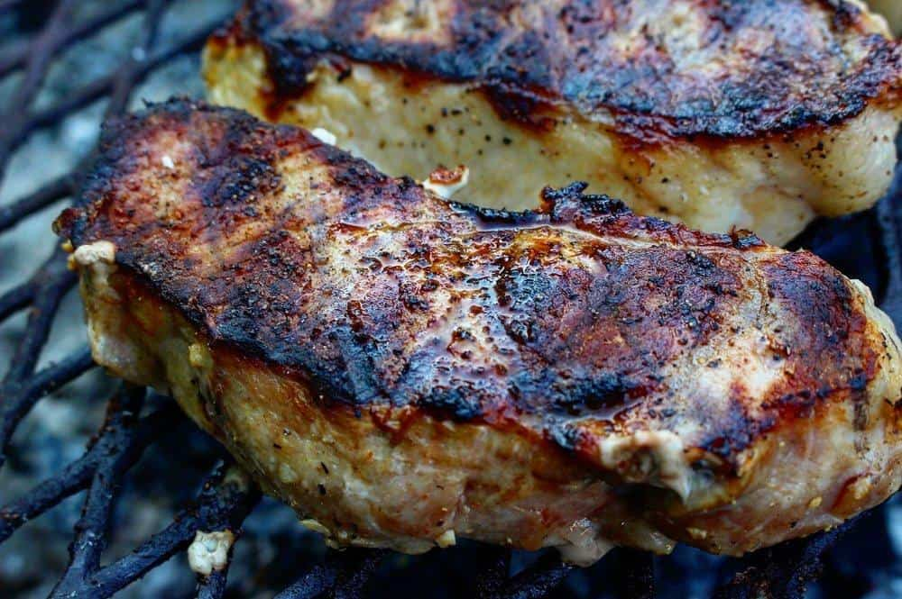 The crust on these pork chops!