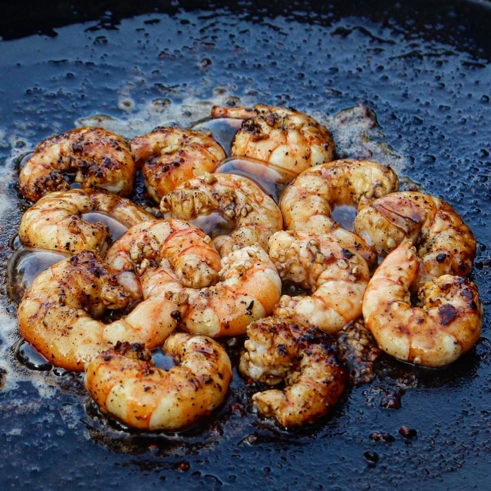 shrimp on the skillet