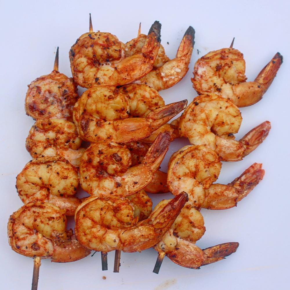 Spicy Paprika Skewered Shrimp