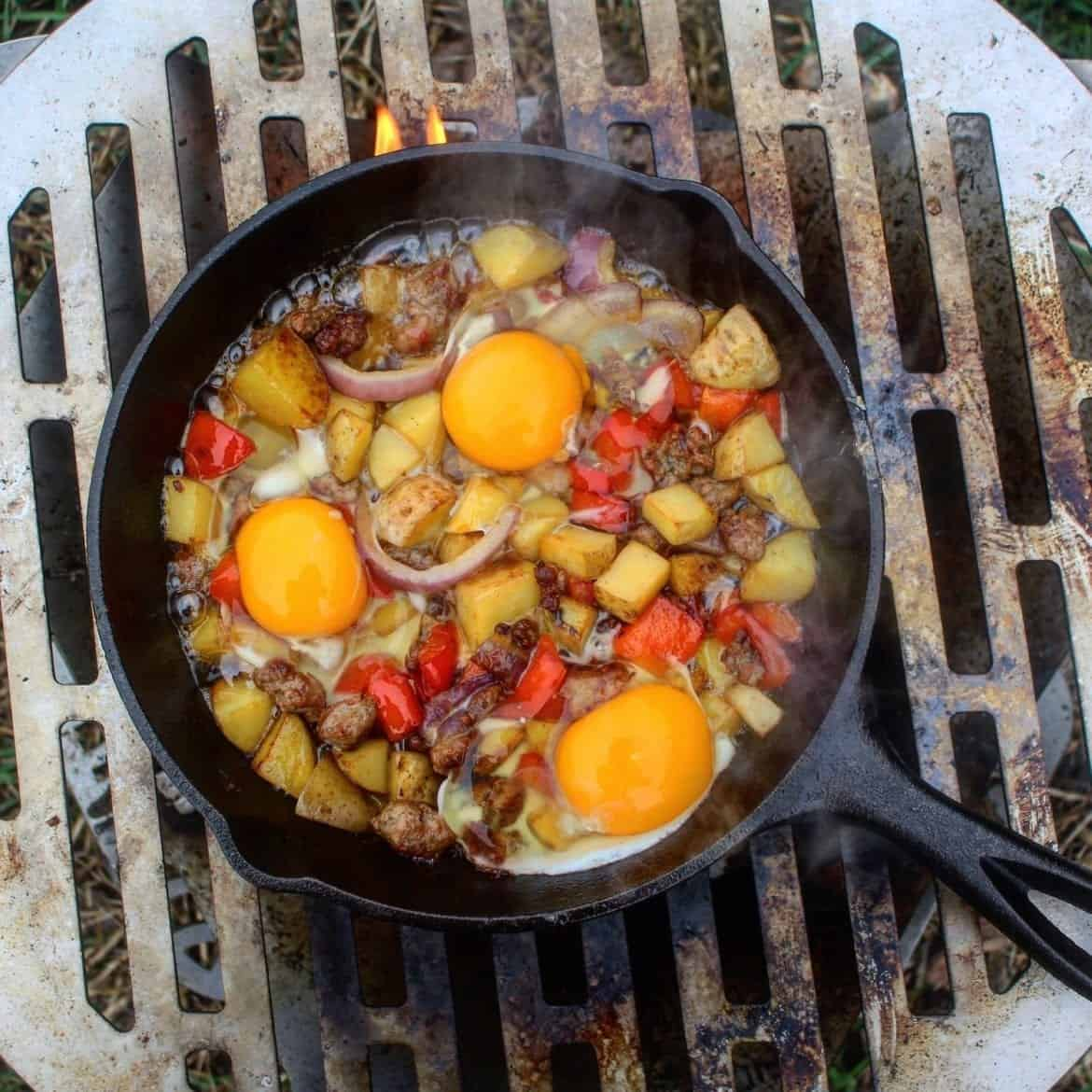 easy to make campfire breakfast skillet