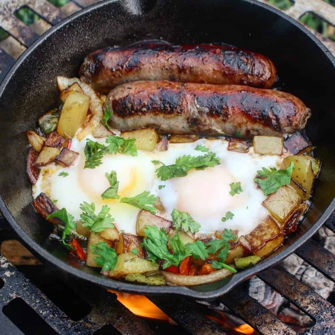 breakfast hash with yuengling smithfield brats