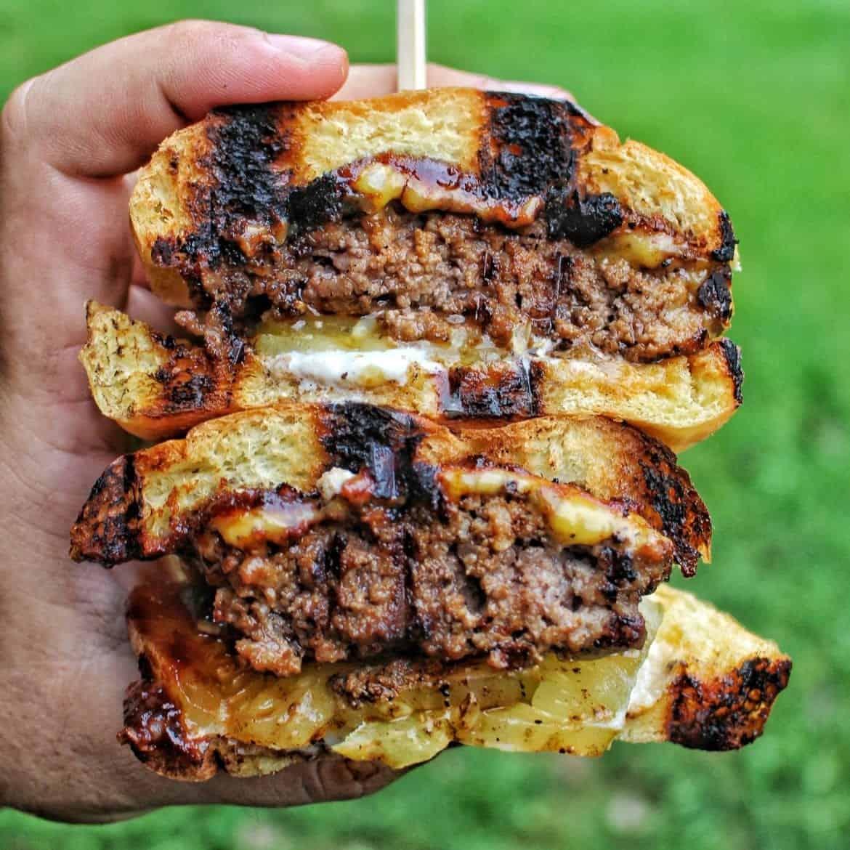 charred bbq burger