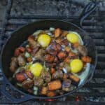 chorizo sweet potato hash