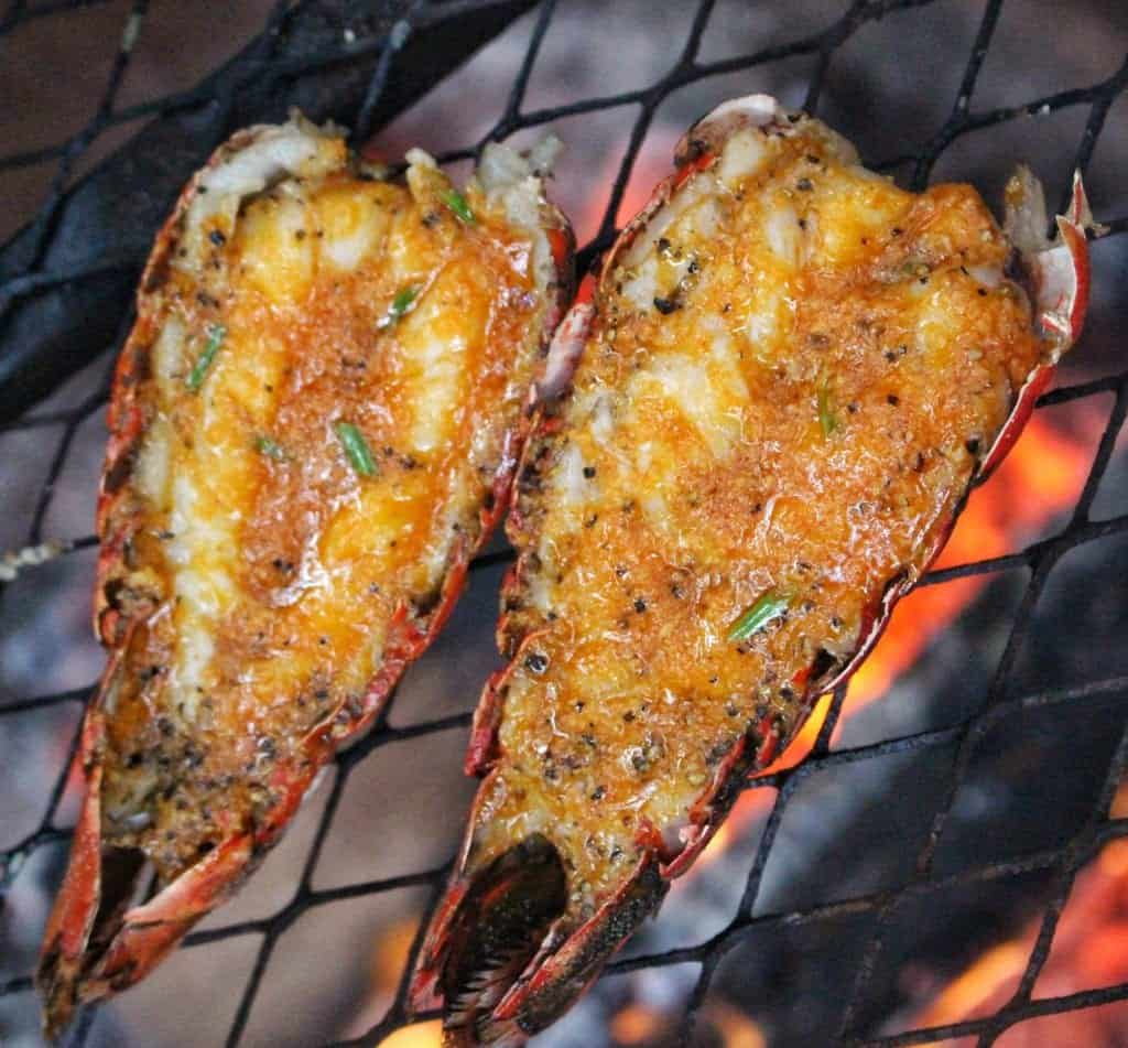 delicious sriracha butter lobster tails