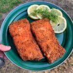 time to eat panko fried wild salmon