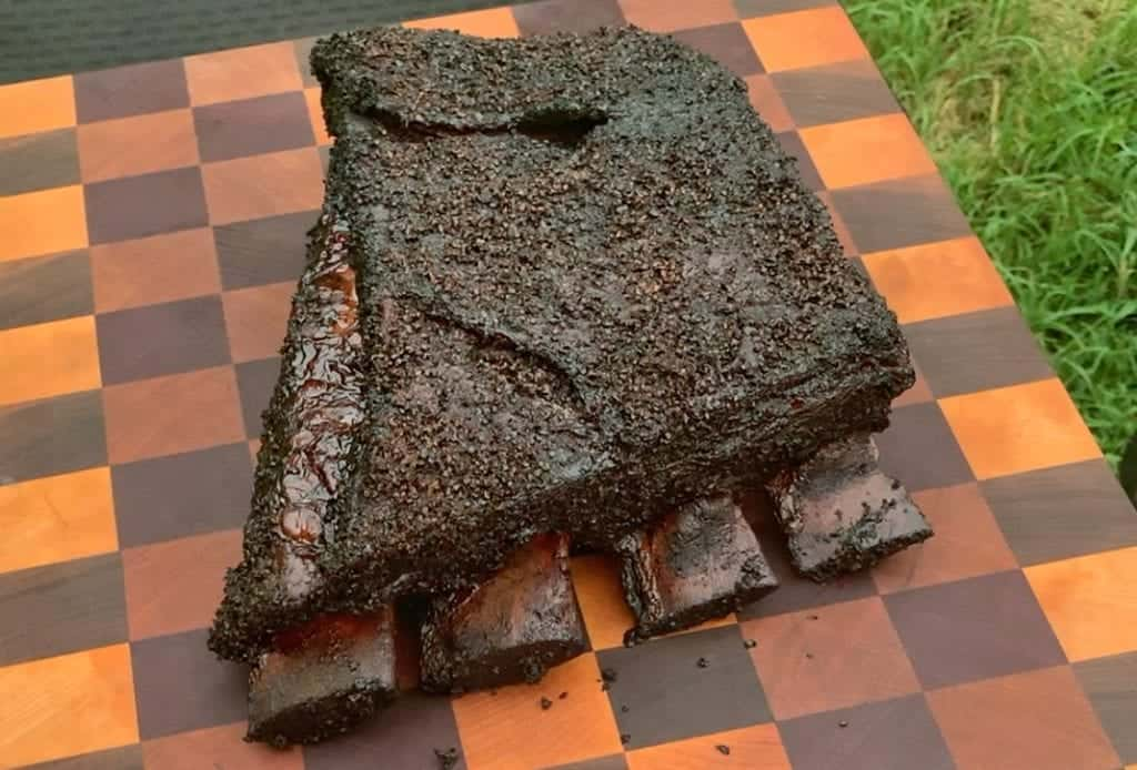 chipotle black pepper smoked beef ribs