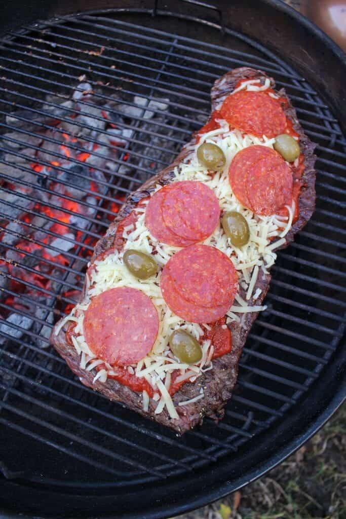 flap steak pizza