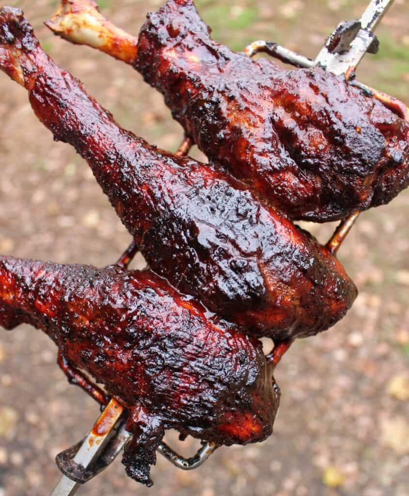 Honey Fire Rotisserie Turkey Legs