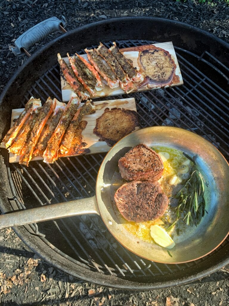 Wood Plank Surf and Turf