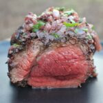 Wagyu Beef Tenderloin with Red Wine Onions