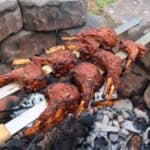 Harissa Rack of Lamb Kebabs