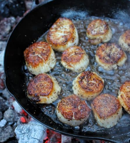 Brown Sugar and Guinness Scallops