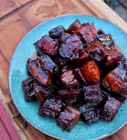 maple bourbon pork belly burnt ends