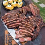 Crusted Ribeyes with Potatoes