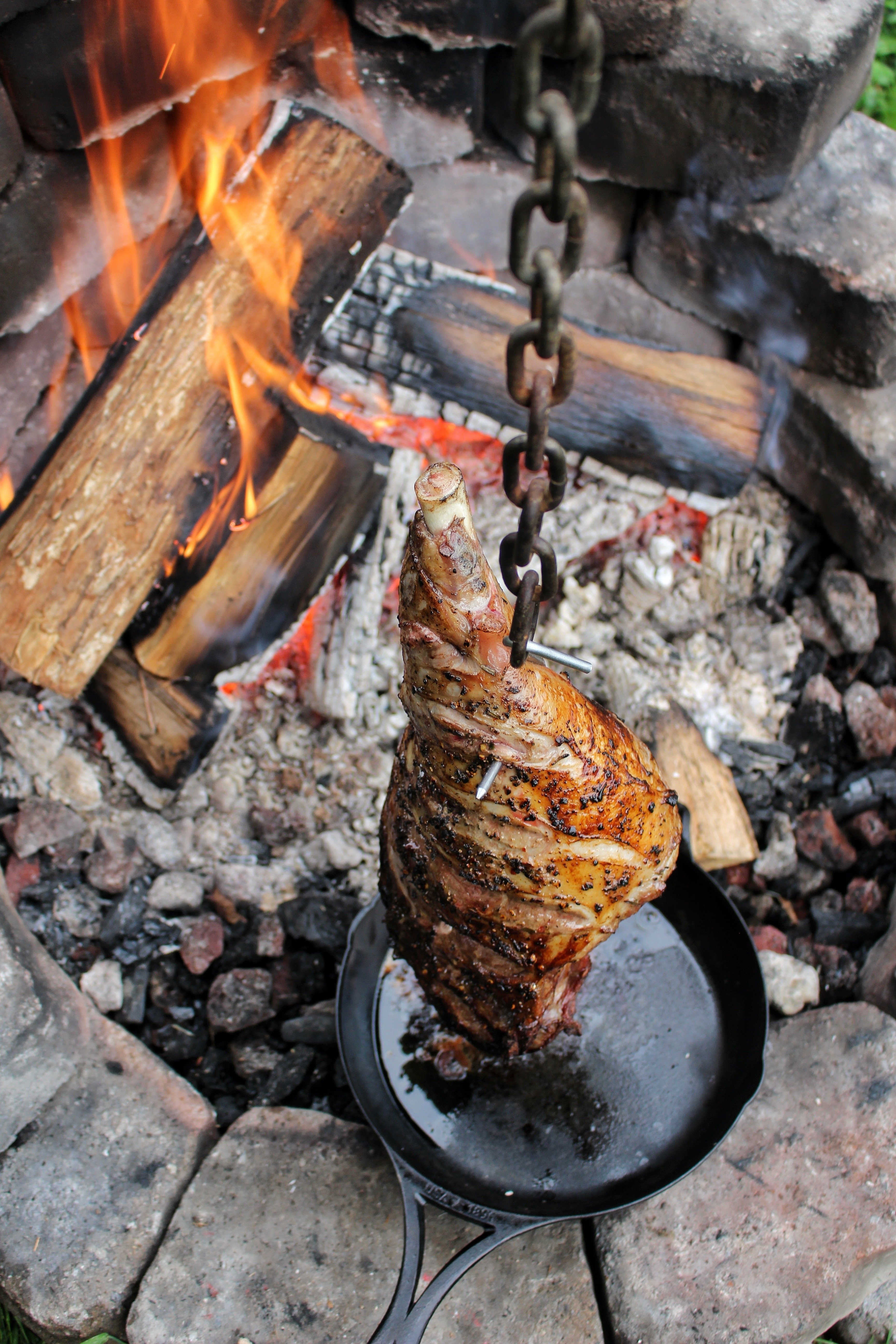 hanging leg of lamb