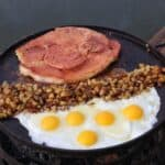 cherry chipotle ham steak and eggs