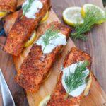 Baked Wood Plank Salmon