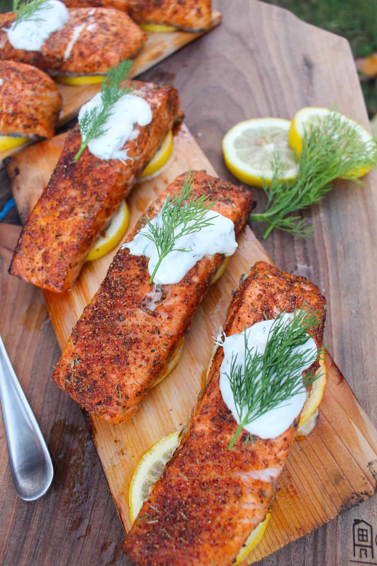 Baked Wood Plank Salmon