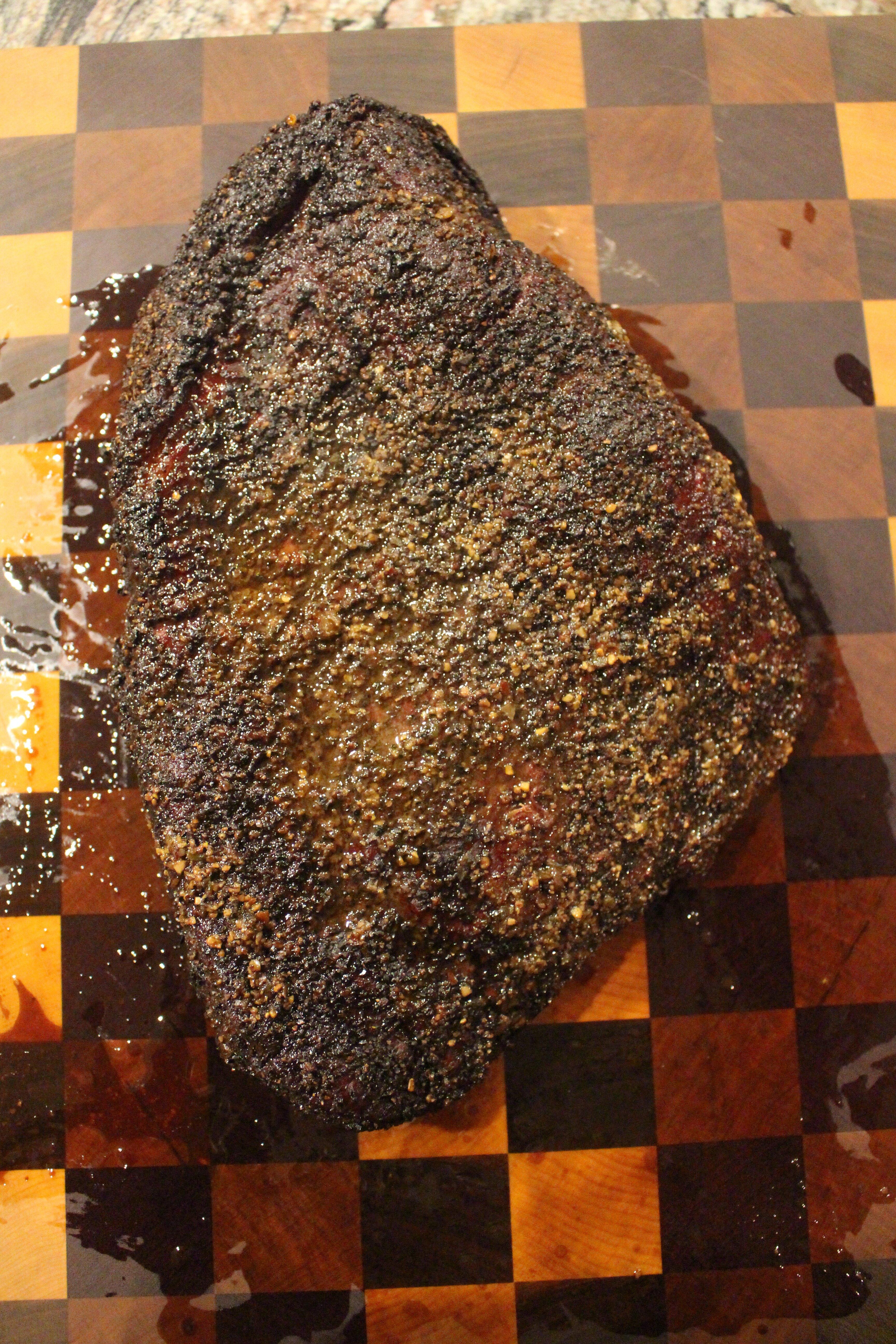 Mesquite Peppercorn Lager Smoked Brisket