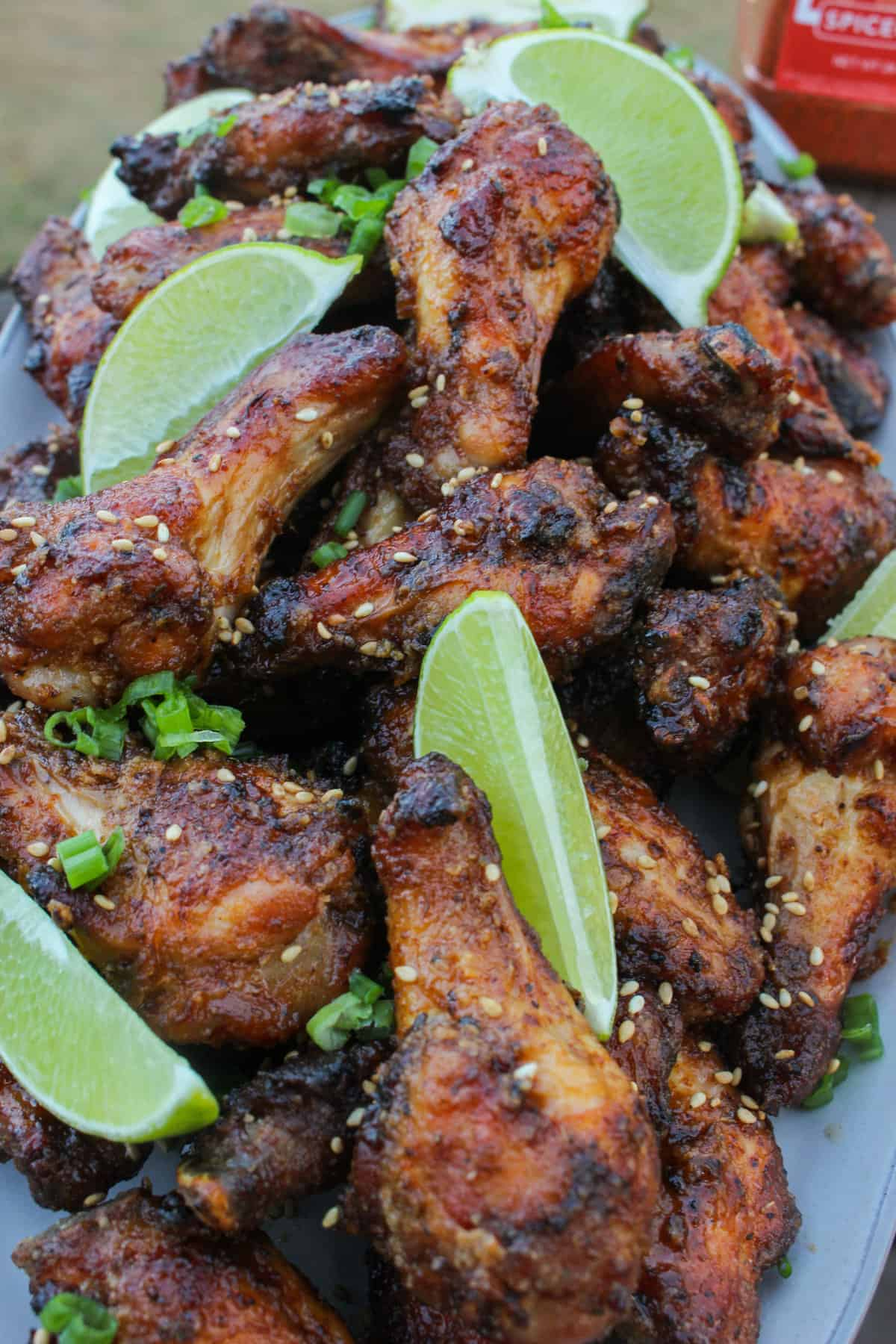 honey garlic sriracha fried wings