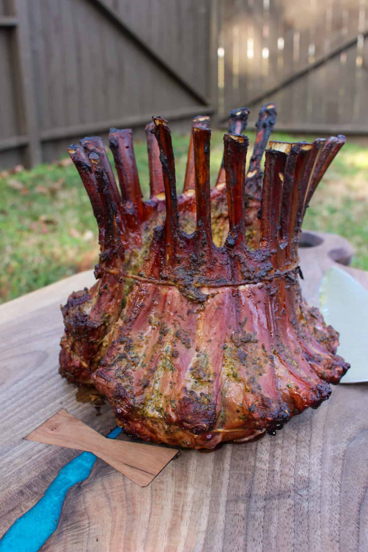 smoked lamb crown
