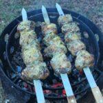 parmesan herb pork loin skewers