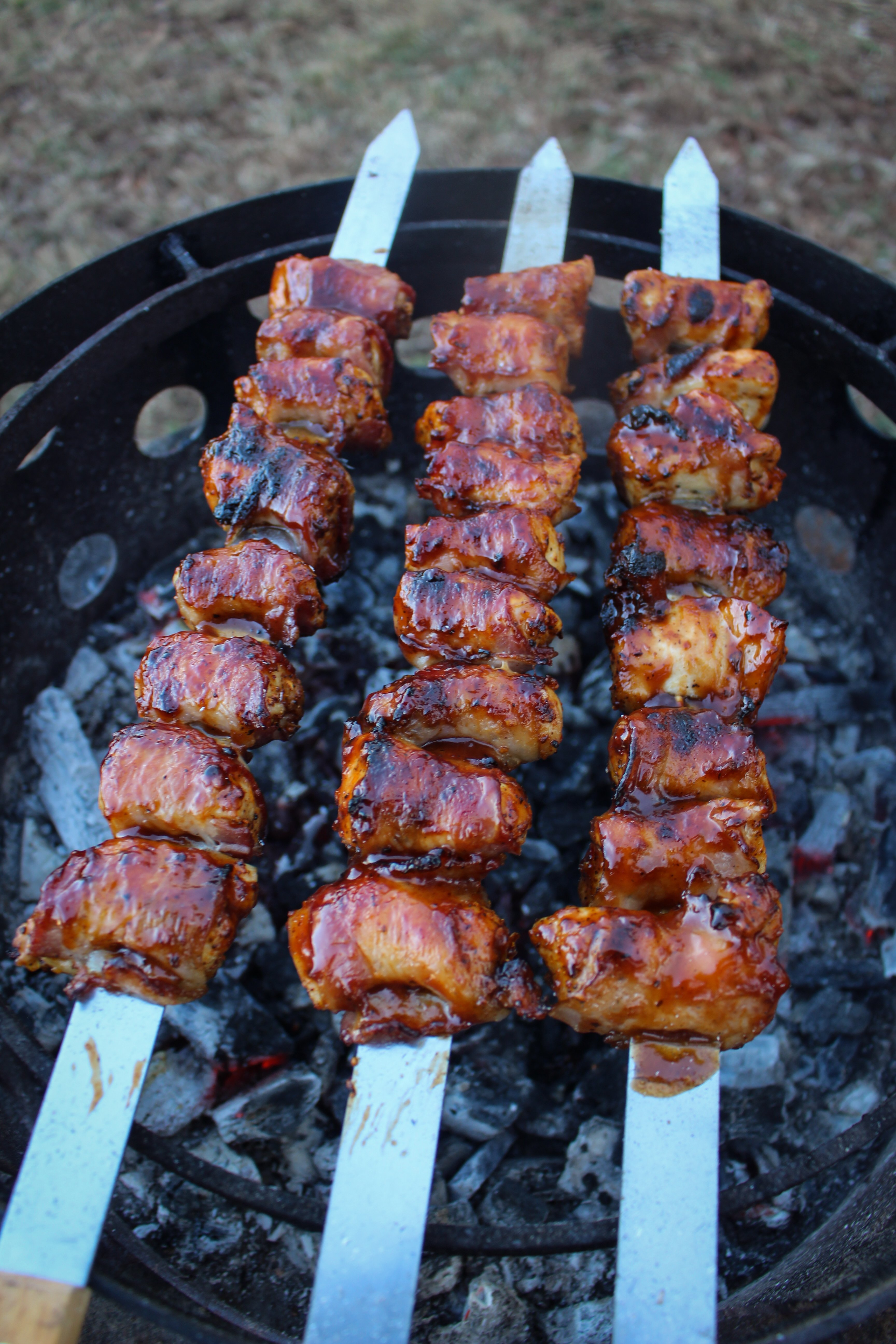 BBQ Chicken Bacon Ranch Skewers