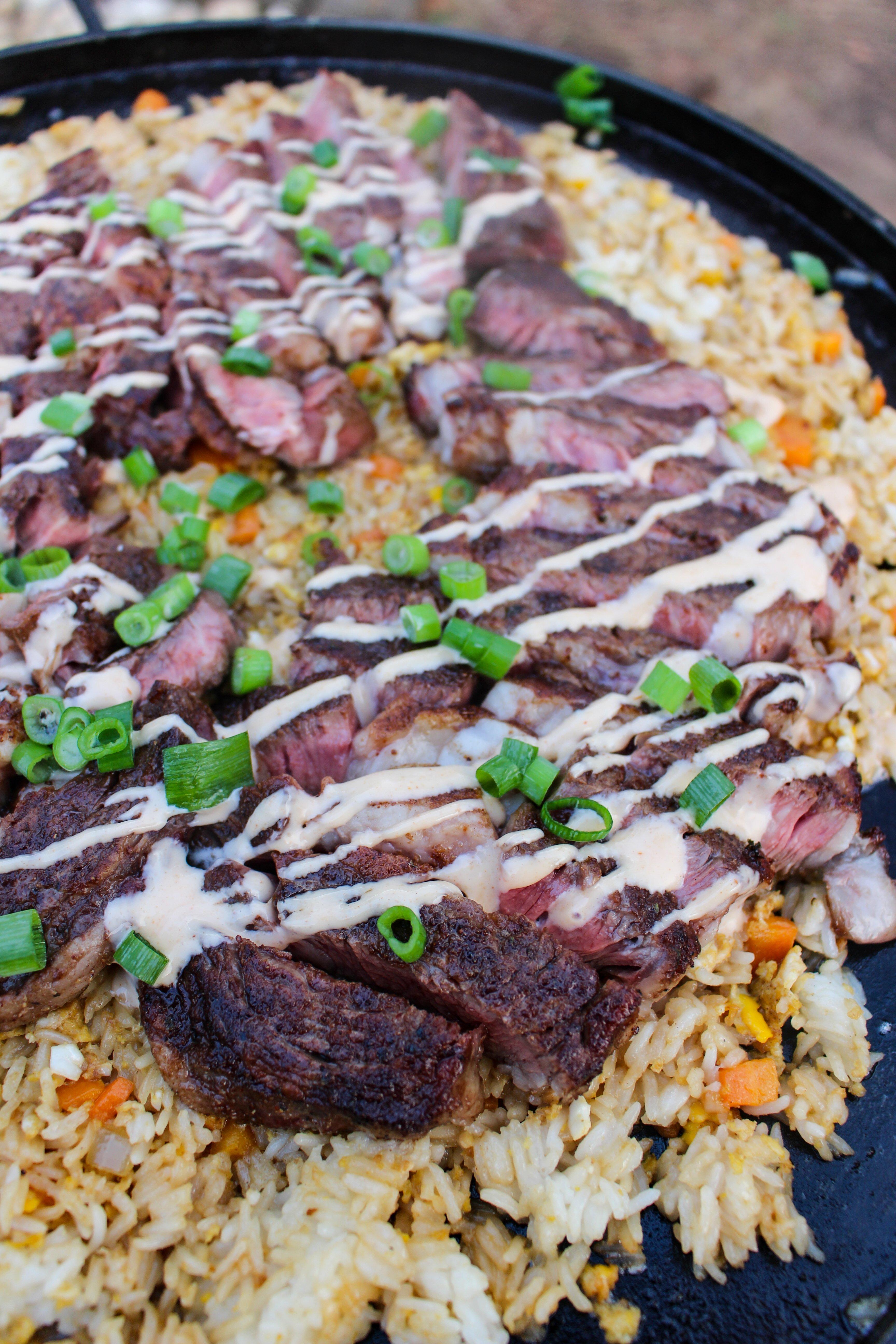 Umami Ribeyes with Steakhouse Fried Rice