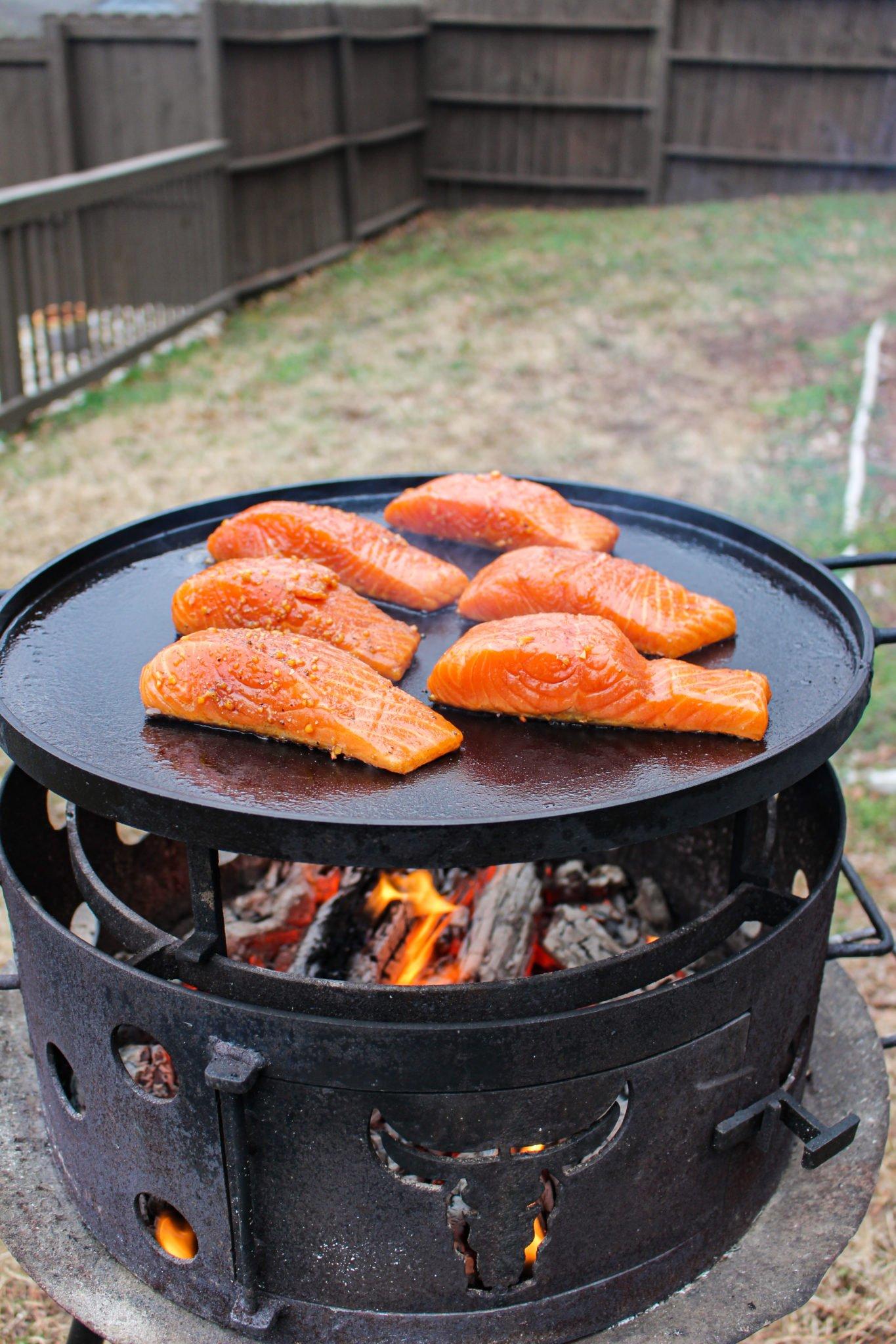 Garlic Soy Marinated Salmon