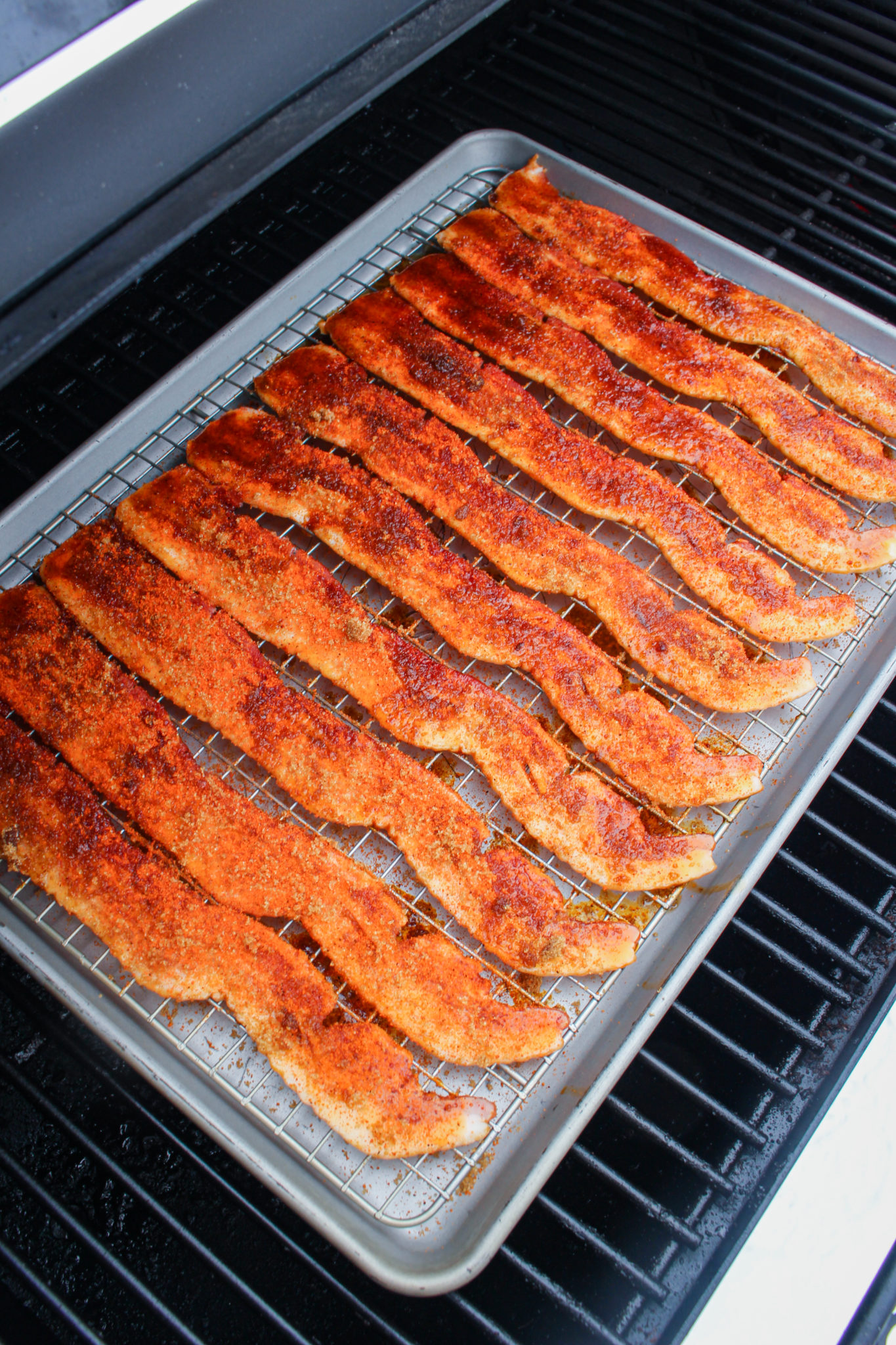 Spicy Maple Bourbon Candied Bacon