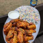 Smoked Citrus Chile Chicken Wings with Black Bean Corn Salsa