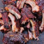 maple cajun smoked ribs