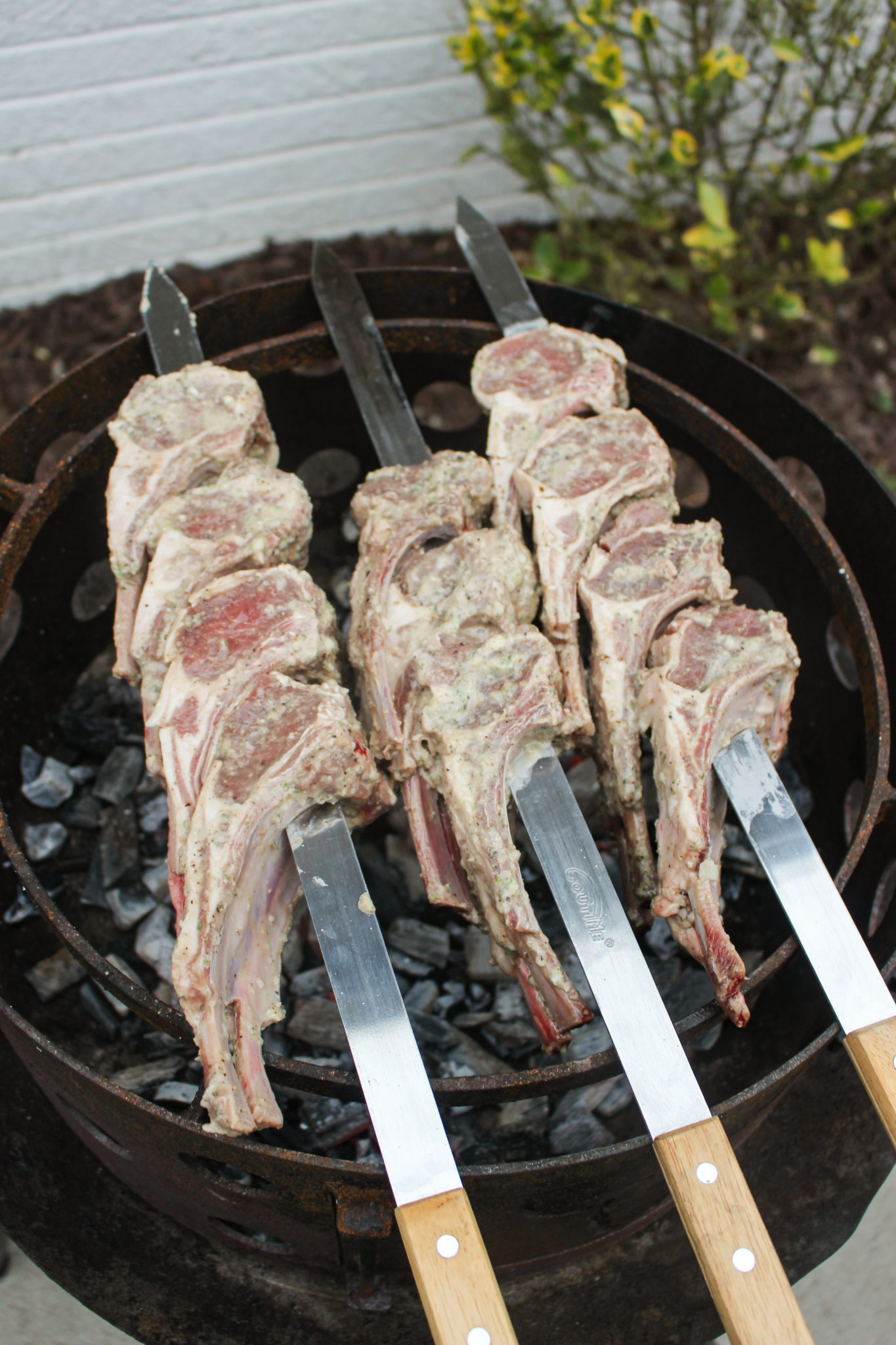 white wine herb lamb skewers