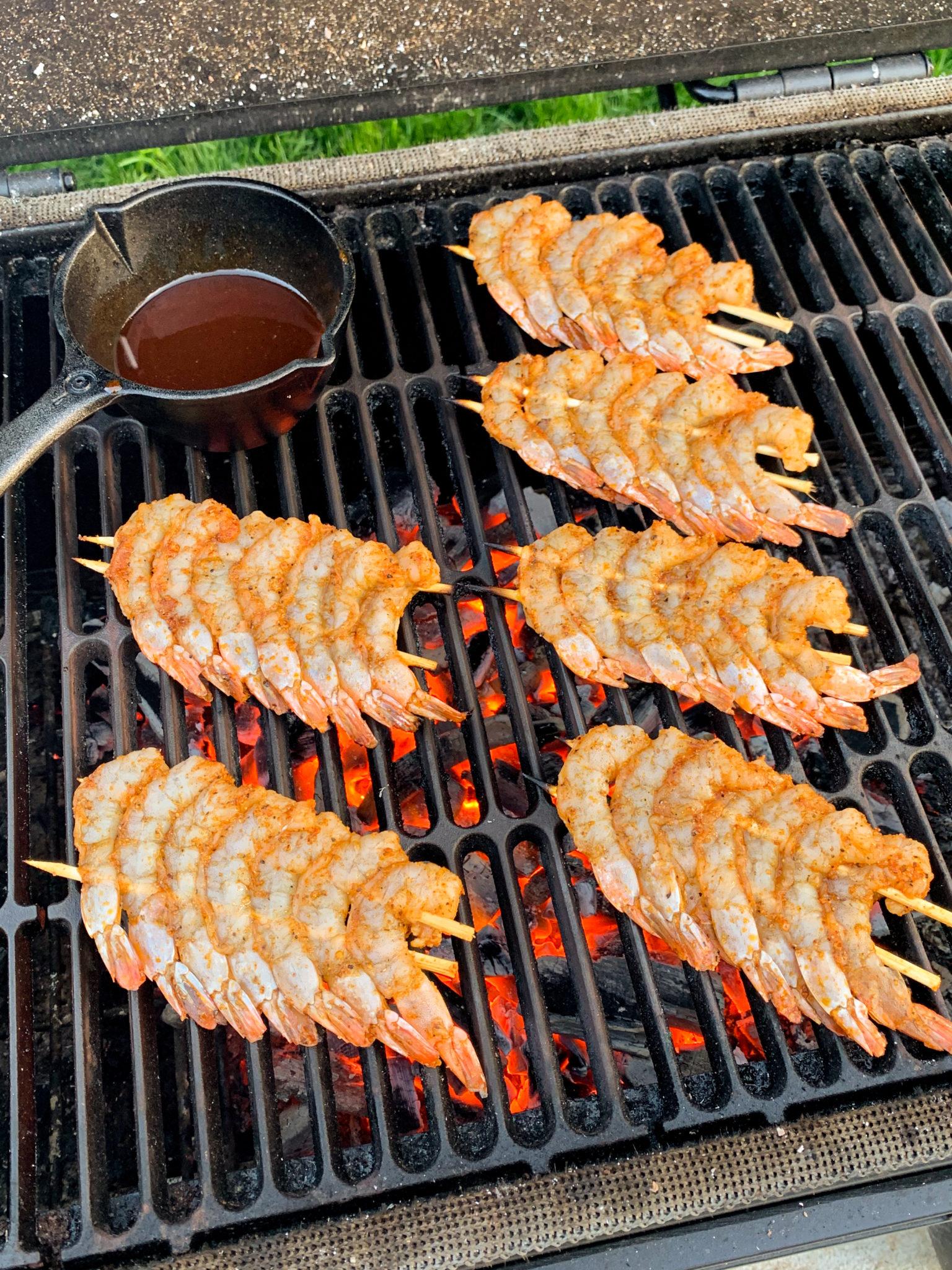 Honey Sriracha BBQ Shrimp