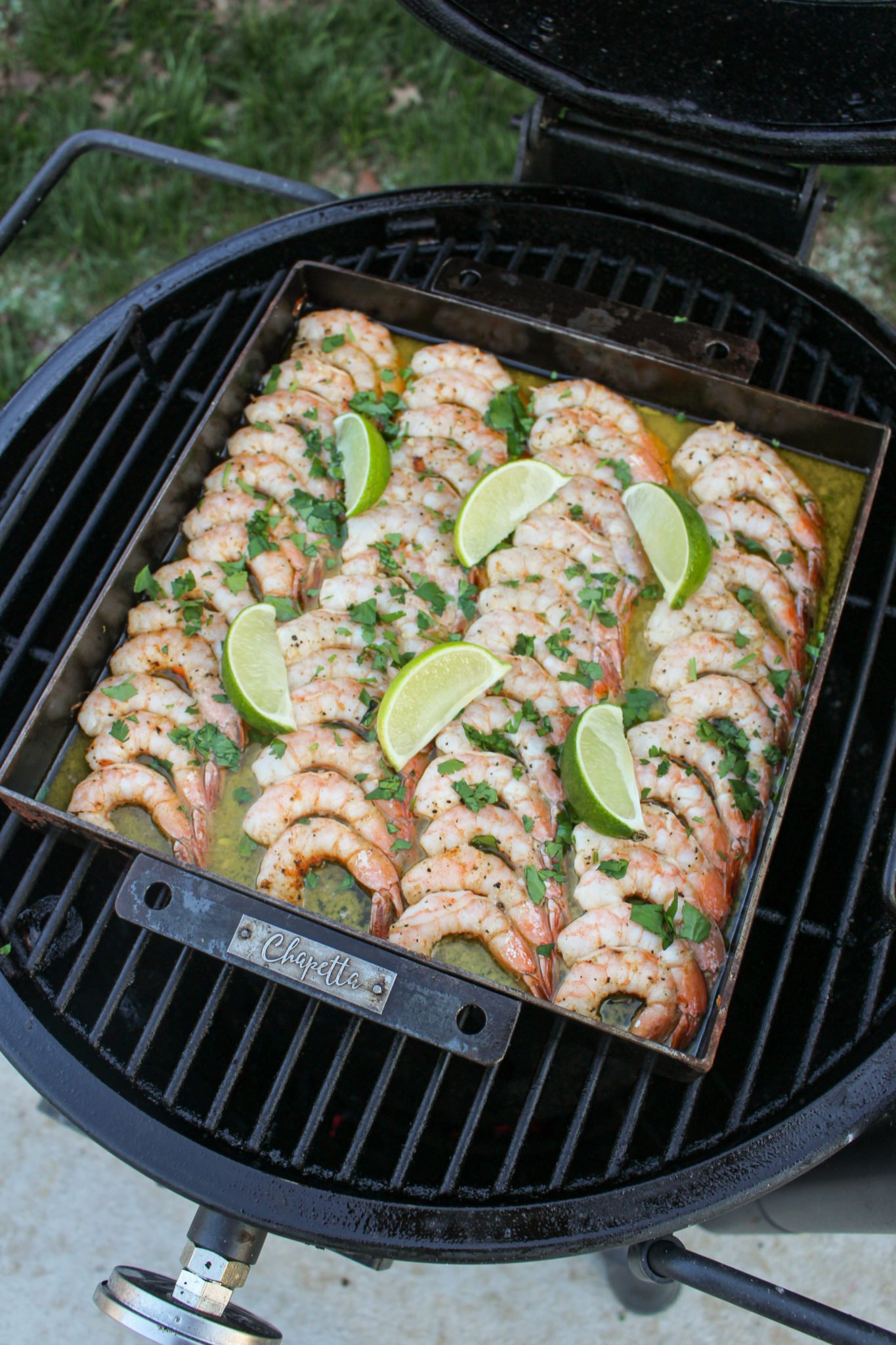 smoked tequila butter shrimp