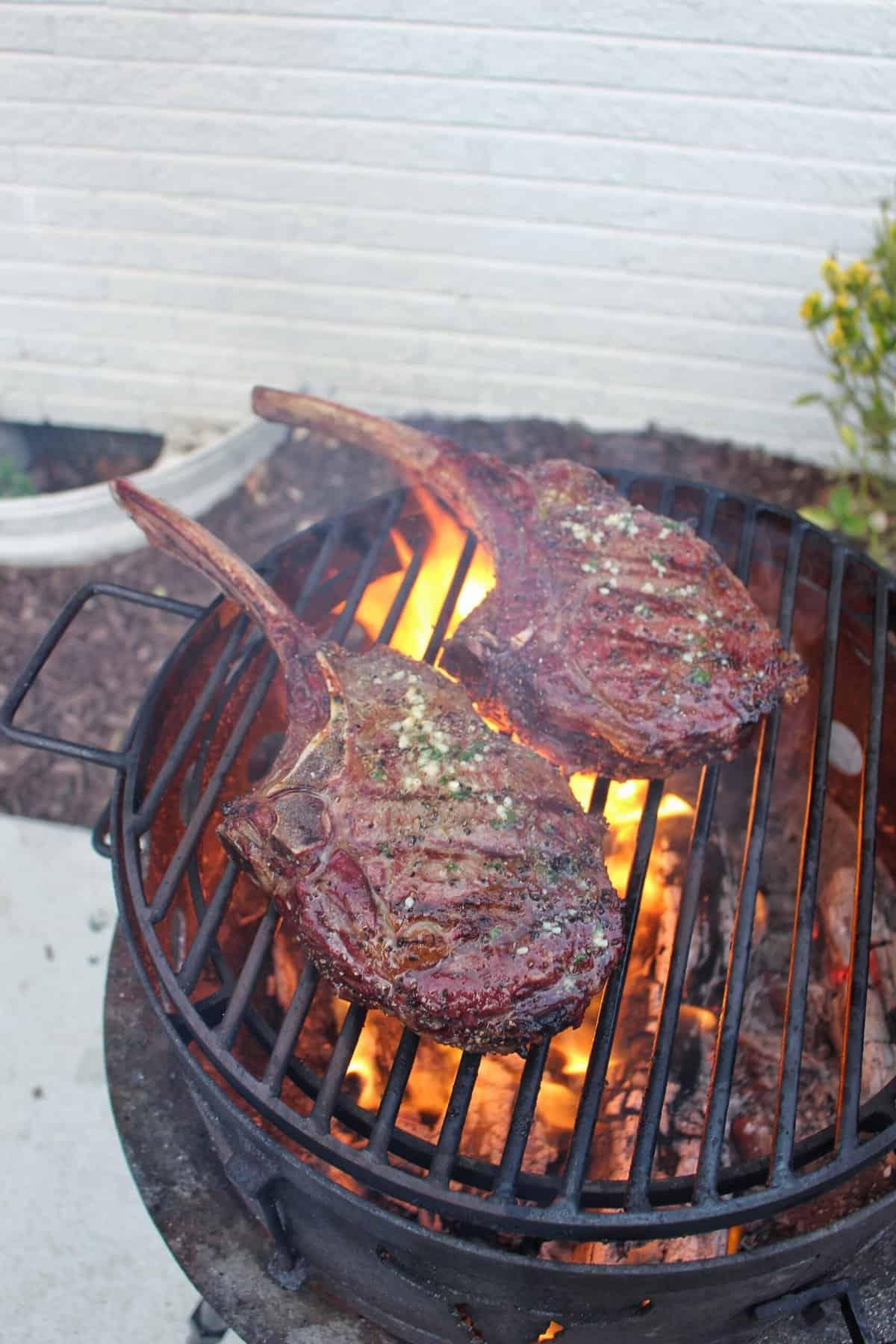hanging tomahawk steaks