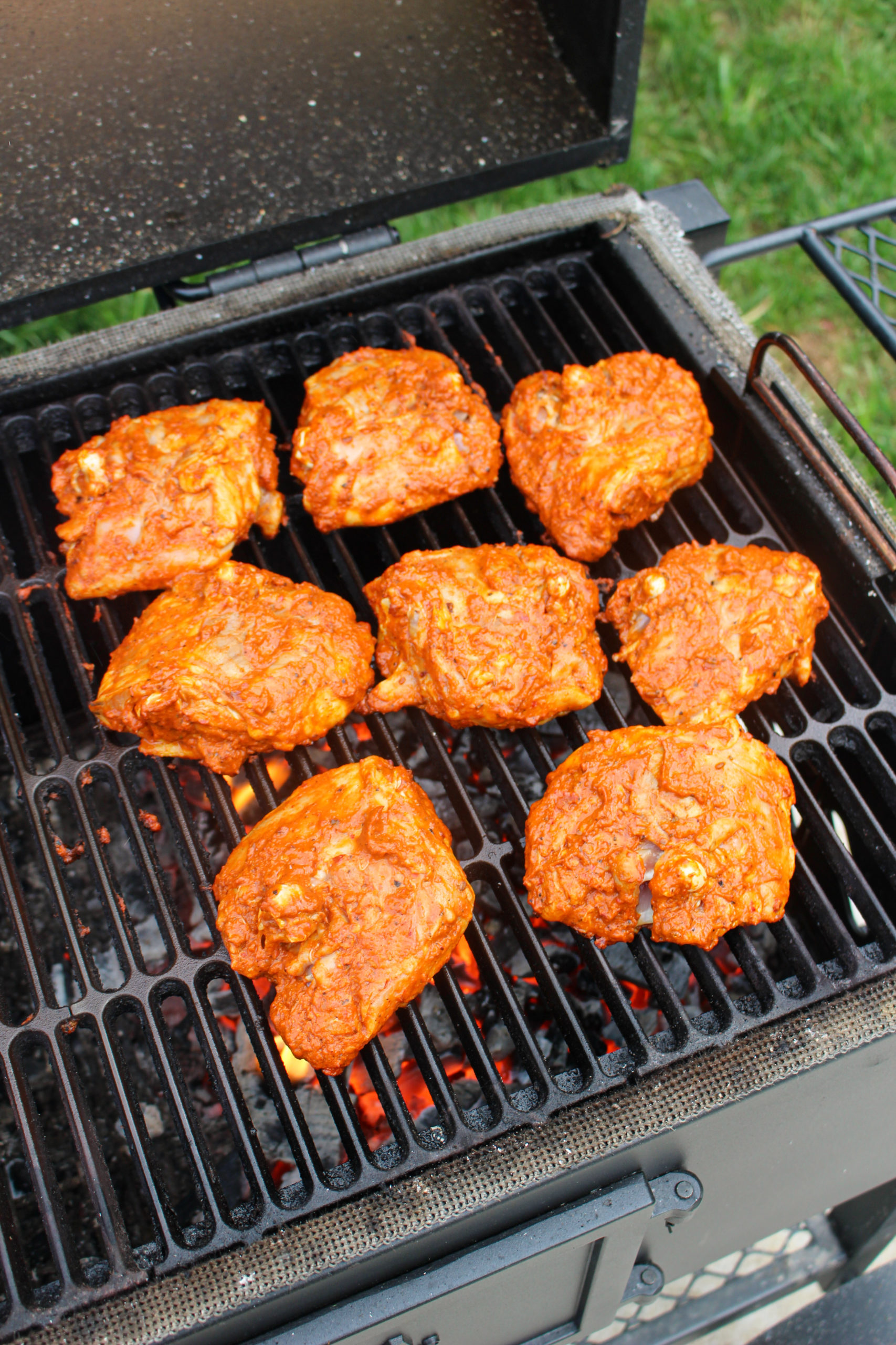 Grilled Hot Chili Chicken Thighs