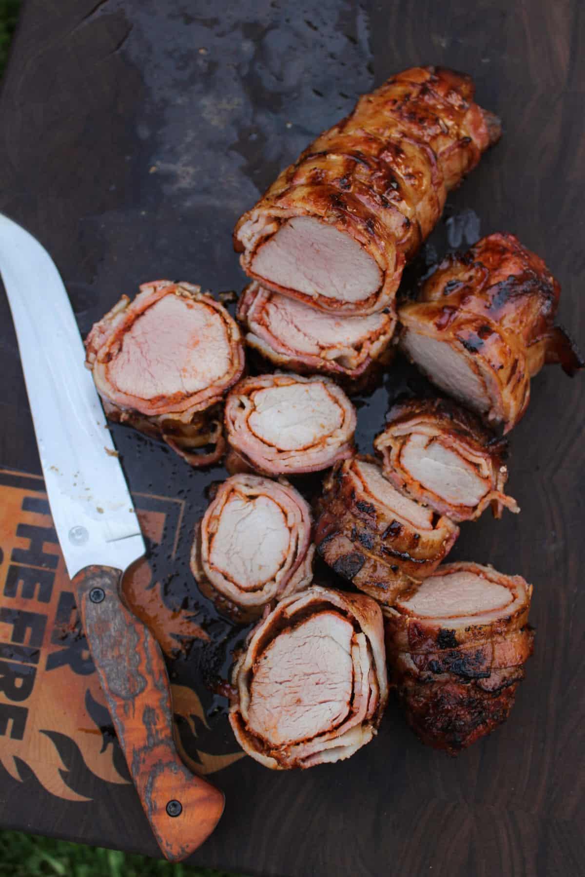 Bacon Wrapped Honey Cajun Pork Tenderloin