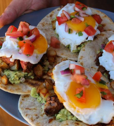 Carne Asada Breakfast Tacos