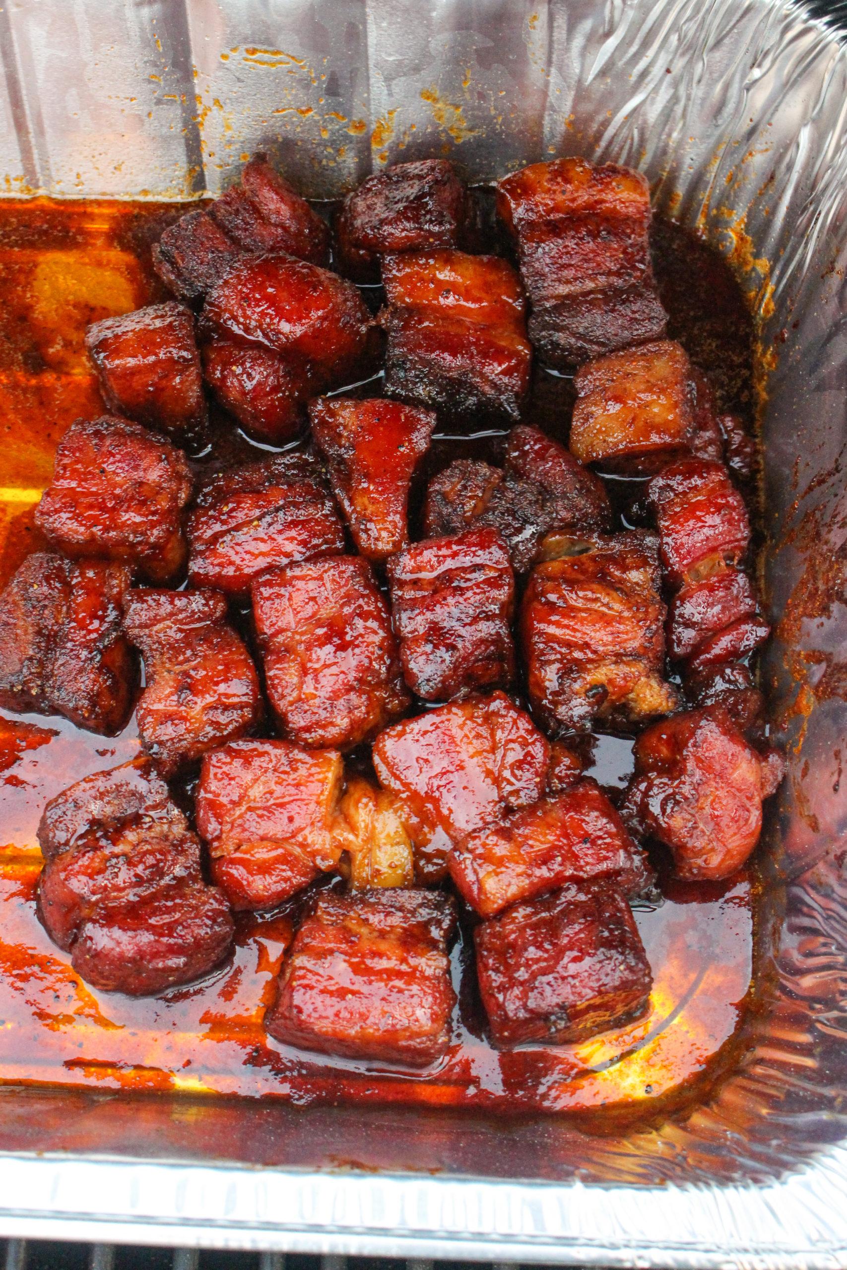 Smoked Maple Sriracha Burnt Ends