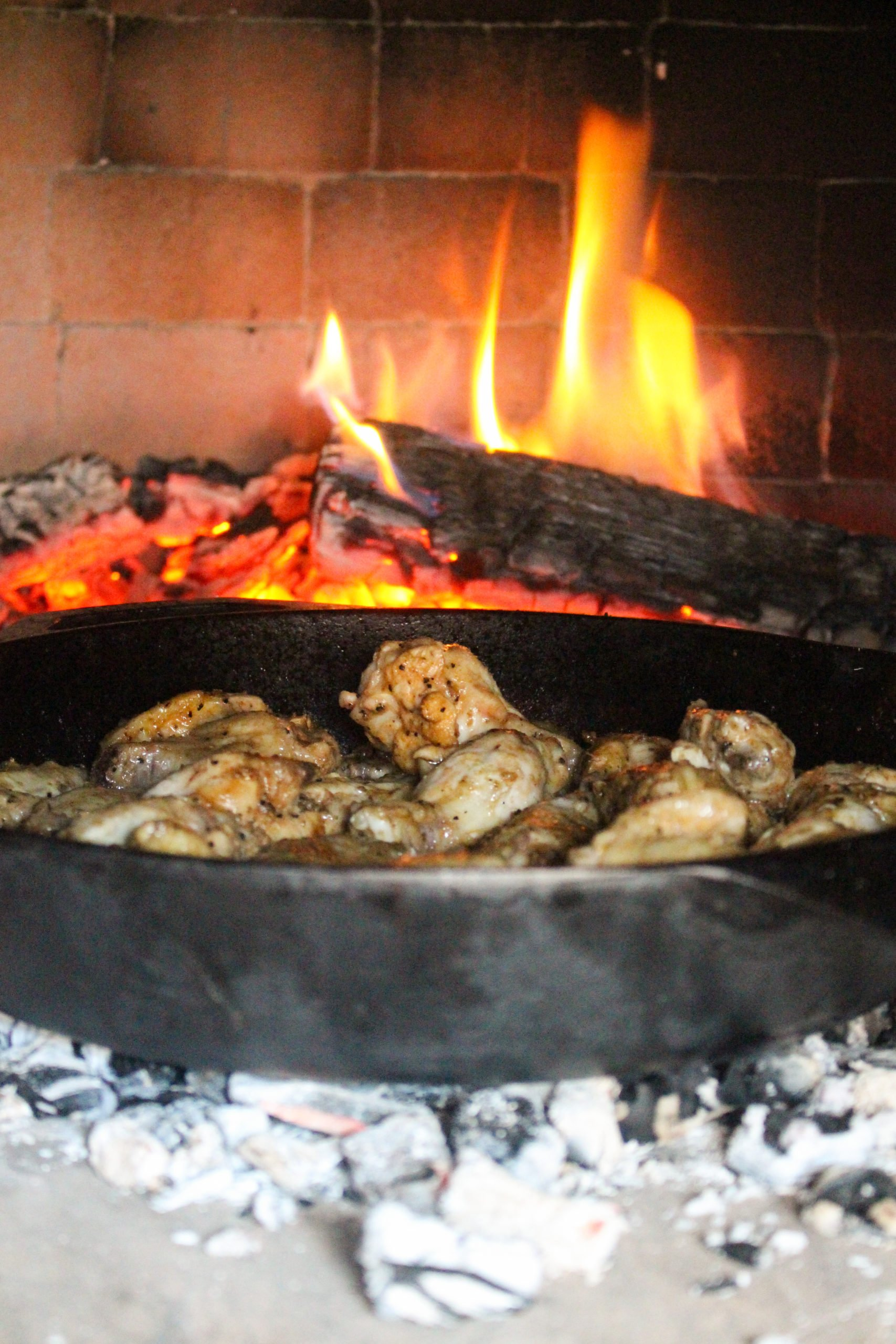 fire baked chimichurri wings