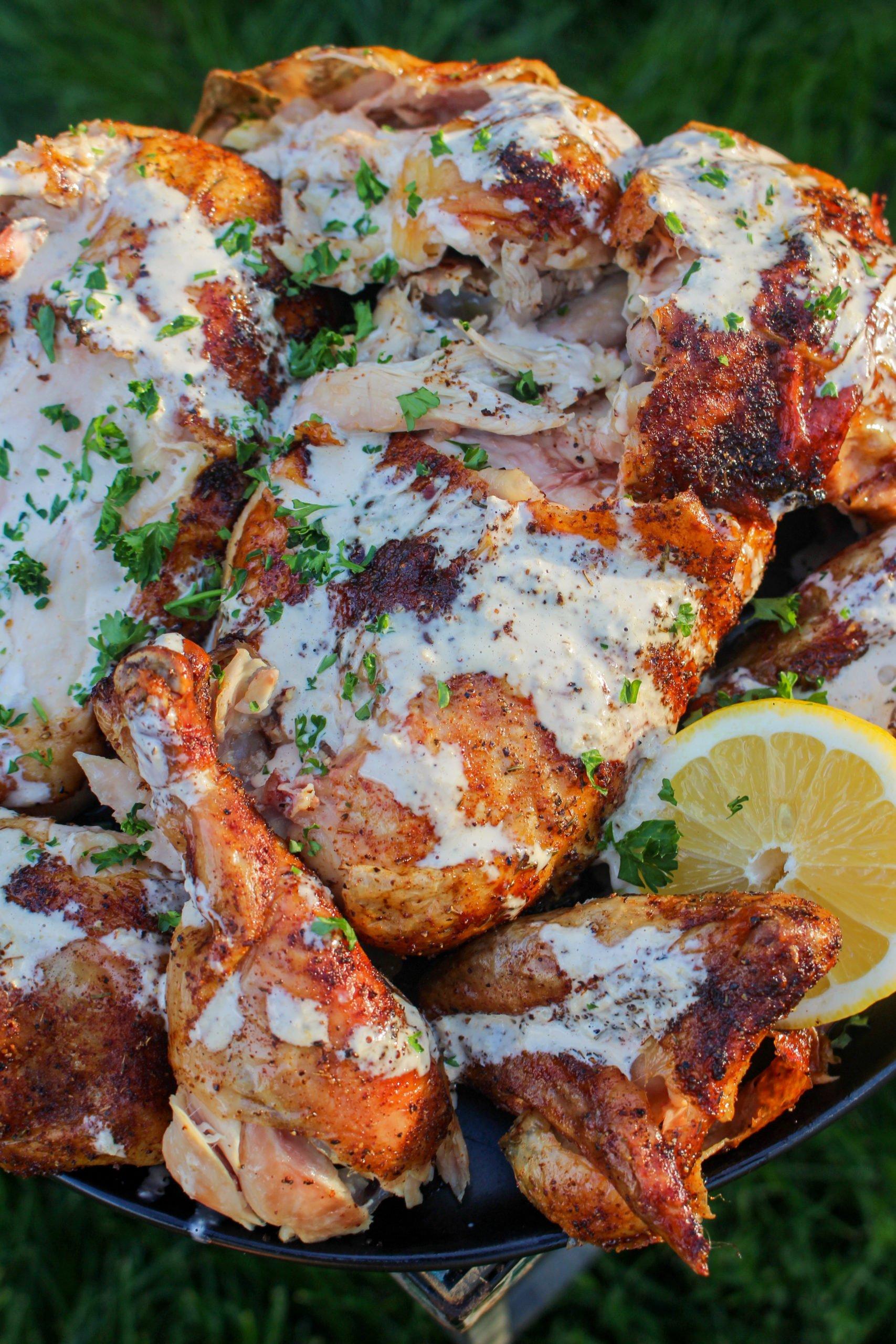 Smoked Hanging Chicken