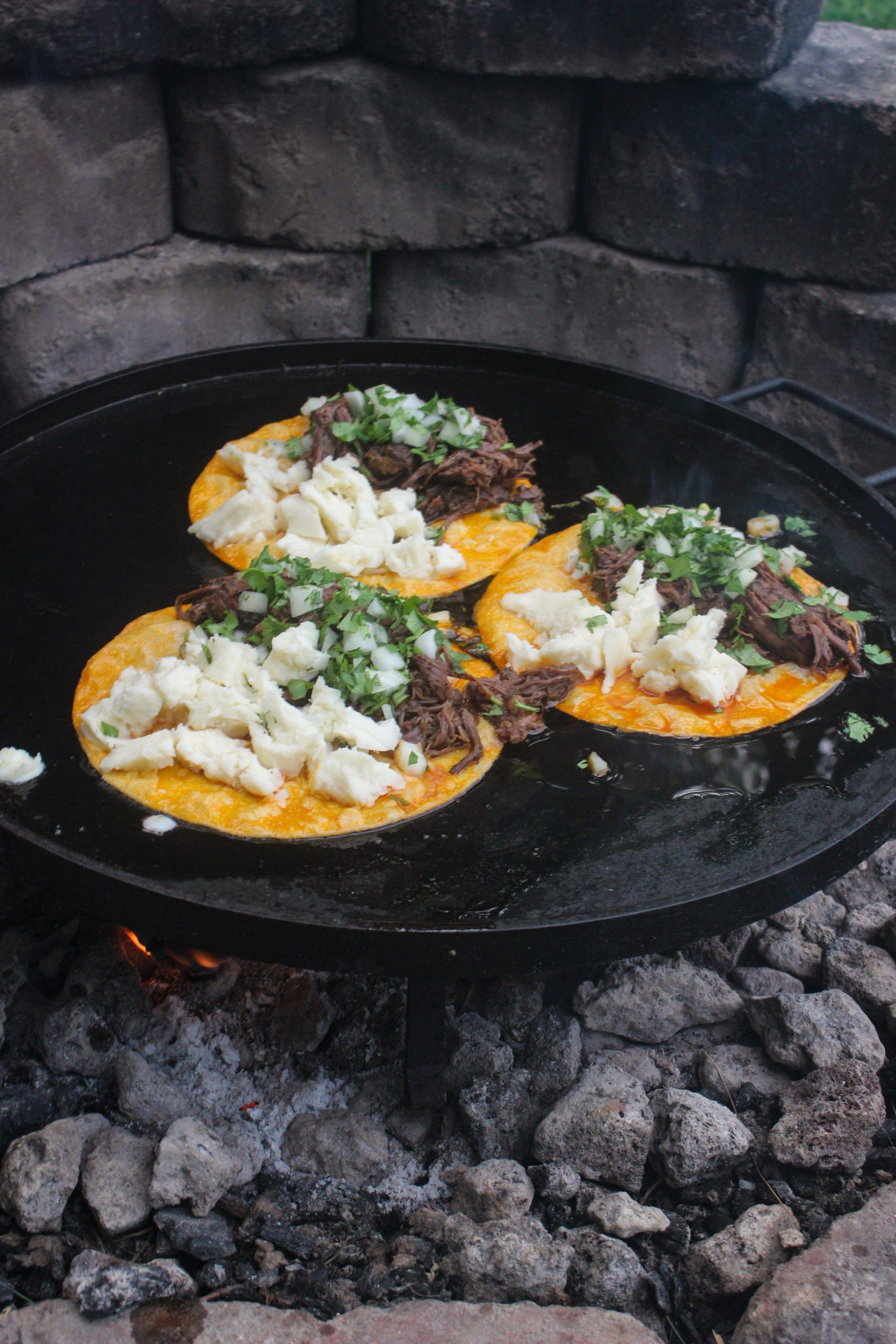 Campfire Quesabirria Tacos
