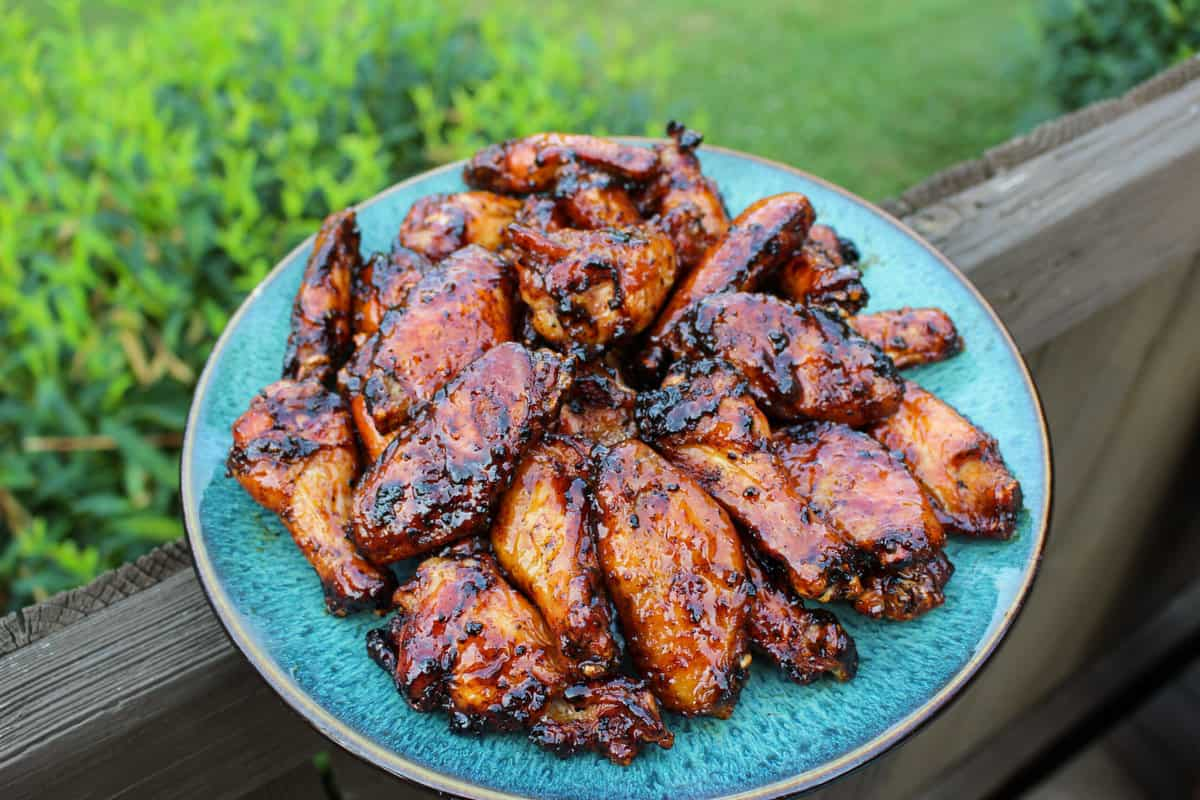 Maple with this Peach Sticky Wings