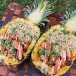 Pineapple Sriracha Shrimp Bowls