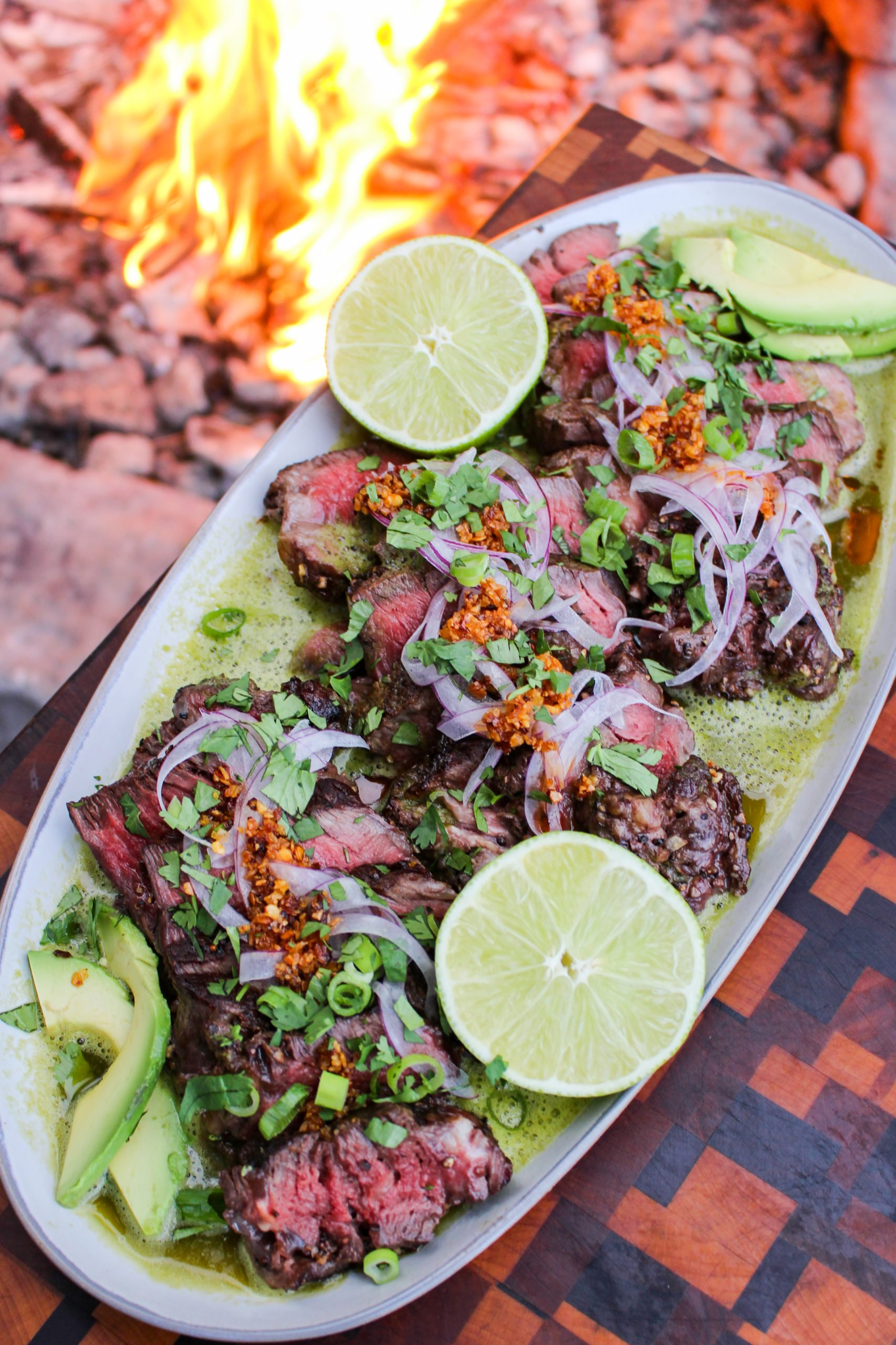 Grilled Filets with Chile Vinegar Sauce