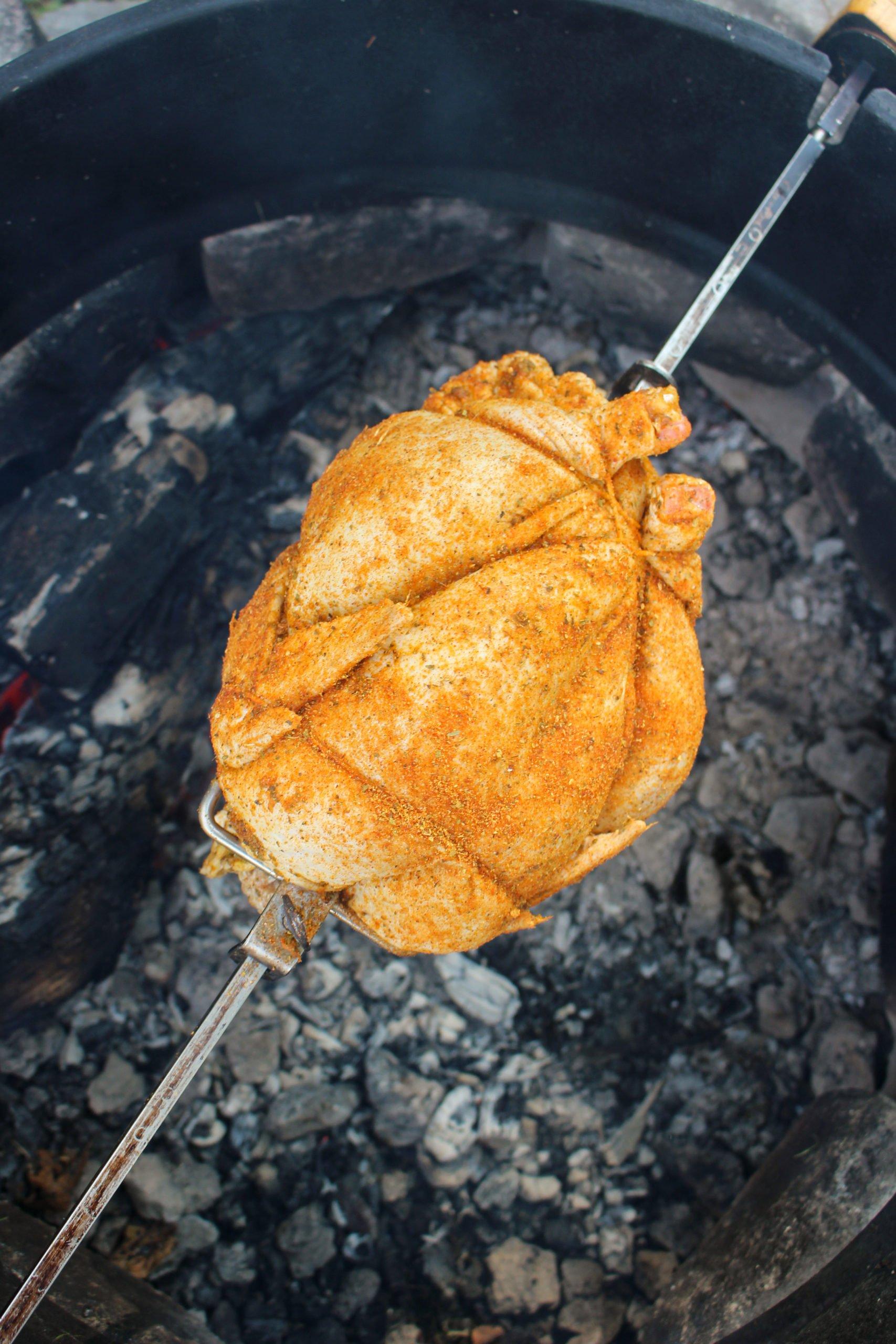 Pollo asado con limón y chile y centeno