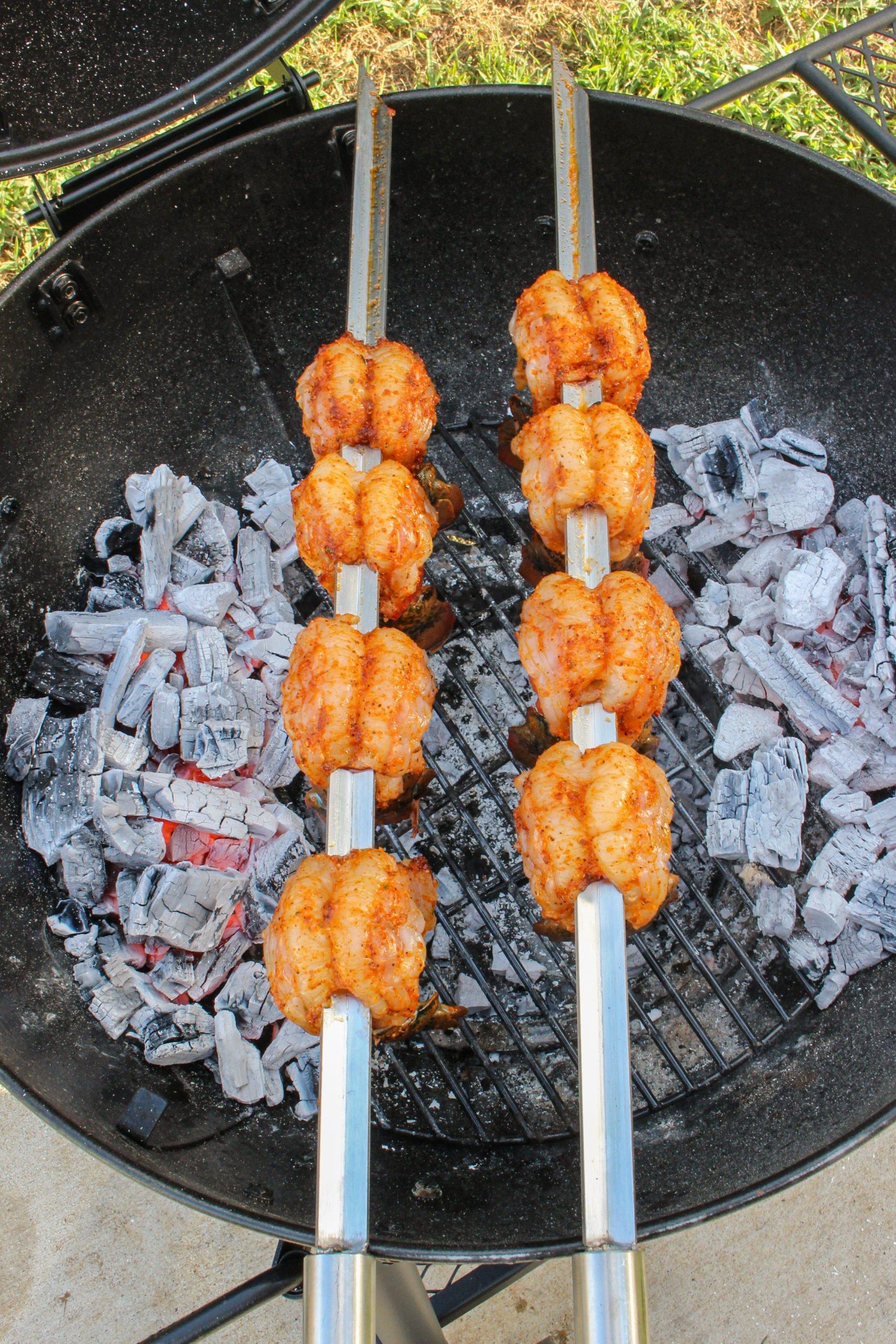 Grilled Lobster Tail Skewers